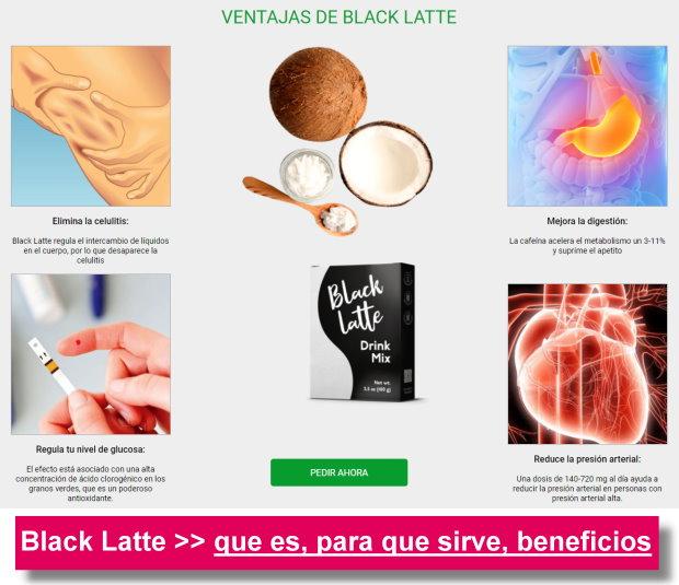 black latte colombia que es para que sirve beneficios